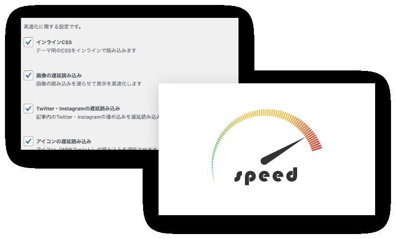 サイトの高速化のイメージ画像